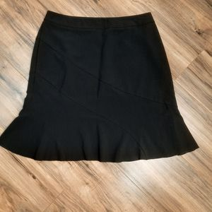 Fashion Bug Stretch Black Flared Skirt size 12
